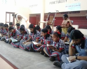 Students with Principal Smt:Lalitha Ramachandran
